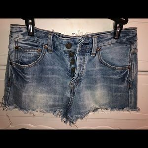Free People High-Rise Jean Shorts